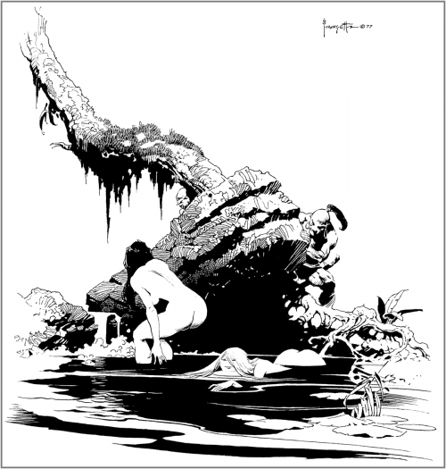 Фэнтези-Эротический Арт Фрэнка Фразетты | Fantasy Erotic Art Frank Frazetta (580 работ)