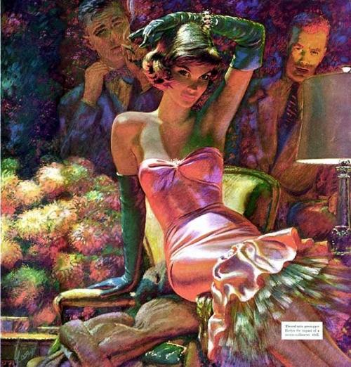 Edwin Georgi - красивые девушки из прошлого (43 работ)