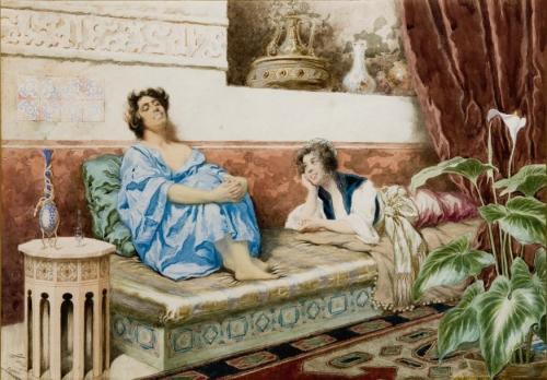 Акварели художника Giuseppe Aureli (1858-1929) (29 работ)