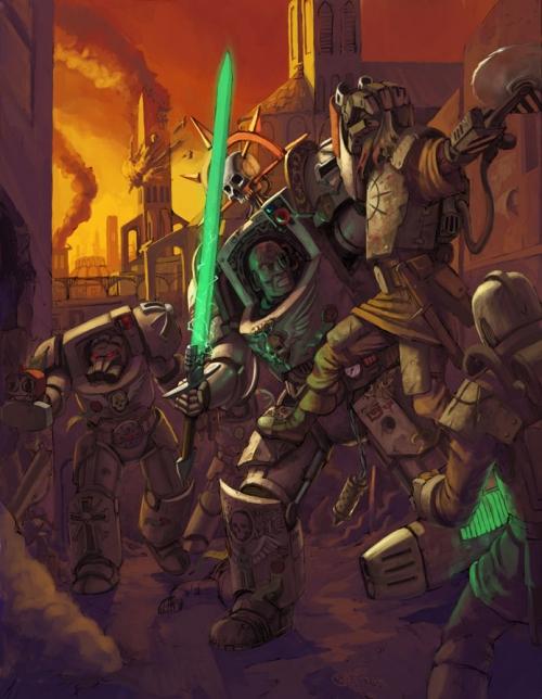 Сборник иллюстраций различных художников для поклонников Warhammer 40000 (1000 работ) (1 часть)