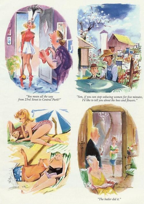 Jack Cole. Playboy Cartoons (85 работ)