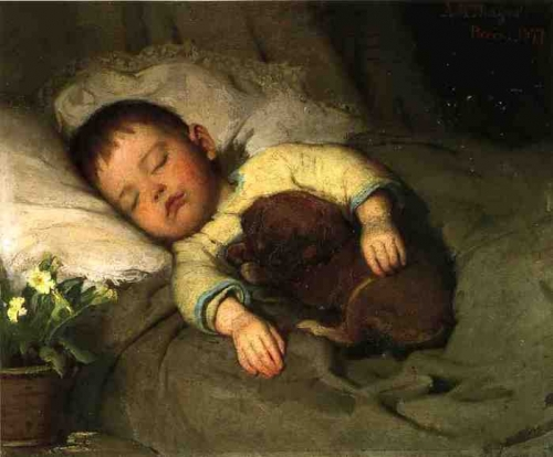 Английский живописец Charles Burton Barber (1845-1894) (46 работ)