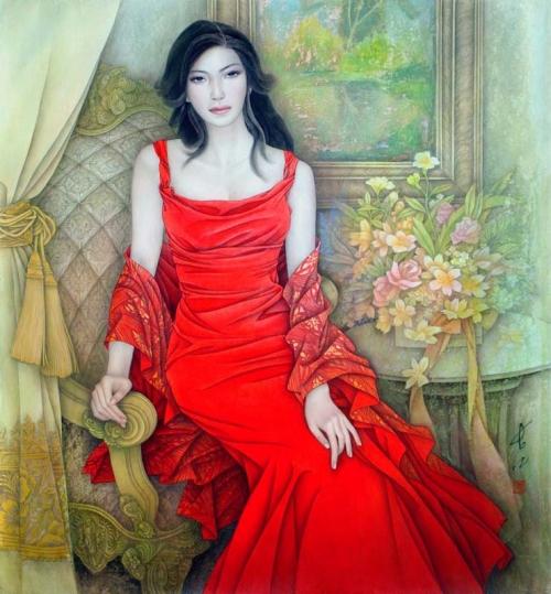Восточные красавицы Feng Changjiang (34 работ)