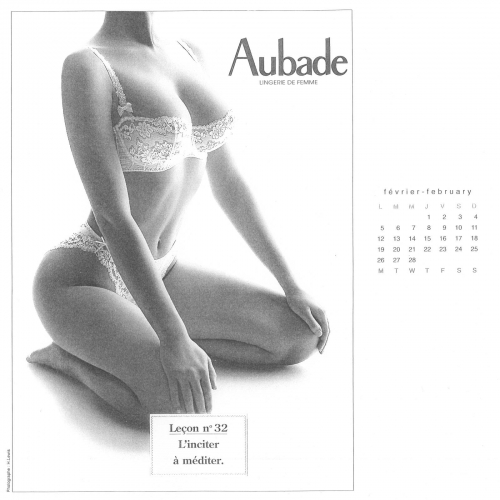 Aubade Lingerie Calendar 2001-2011 (144 фото) (эротика)