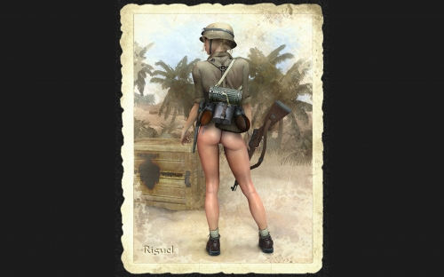 3D military girls - Designer Riguel (55 фото)