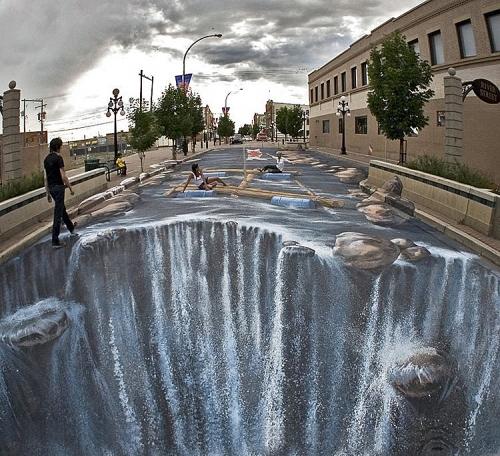 3D-арт Объёмные рисунки на тротуаре (34 фото)