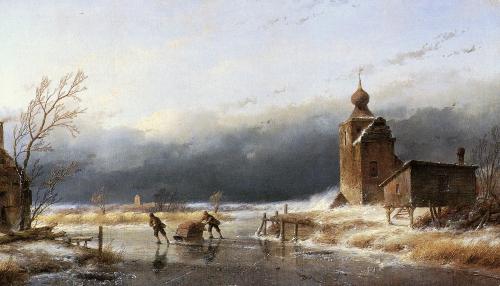 Художник Andreas Schelfhout (79 работ)