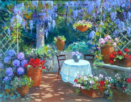 Солнечно-цветочная живопись Maria Serafina (18 работ)