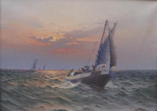 Художник-маринист JOHAN OSSIAN ANDERSSON (1889-1975) (12 работ)