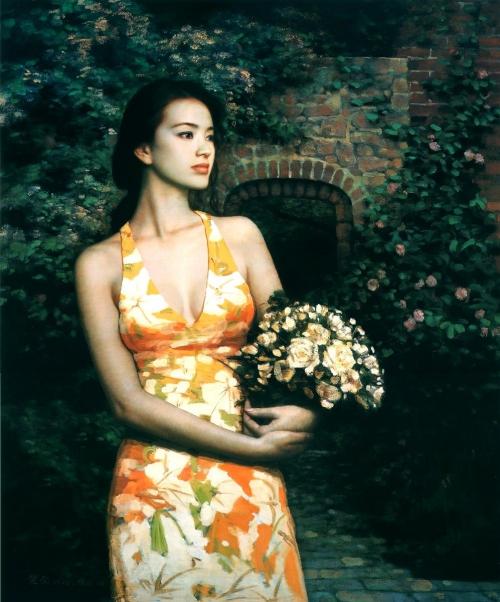 Романтичные девушки Xie Chuyu (47 работ)