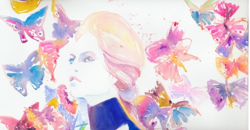Watercolour fashion Illustration by Cate Parr (149 работ)