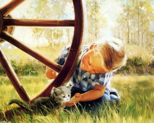 Детские образы в живописи. 2 часть (140 работ)
