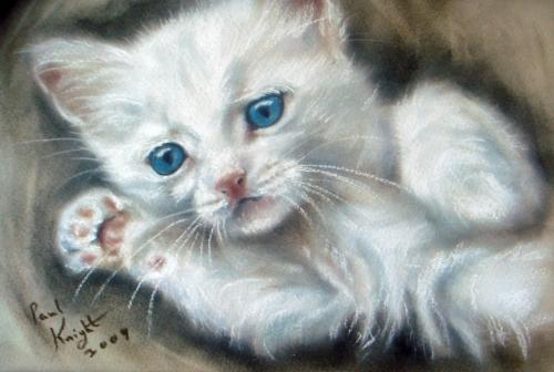Английский художник Пол Найт. Кошки. 1 часть | Paul Knight (45 работ)