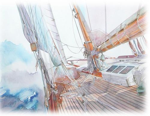 Французский художник, фотограф и яхтсмен Philippe Gavin (57 работ)