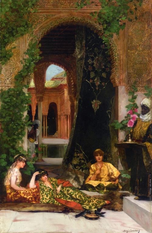 Французский художник Jean-Joseph Benjamin-Constant (1845-1902) (82 работ)