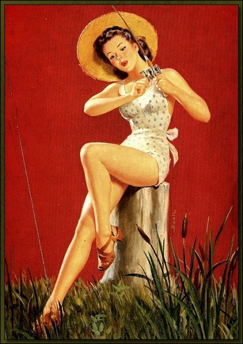 Pin-up Art by Al Buell (82 работ)