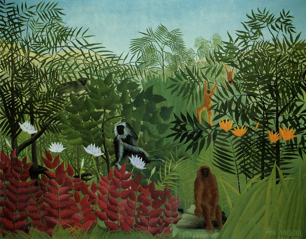 henri rousseau Rousseau described the subject of the sleeping gypsy as: a wandering negress, a mandolin player, lies with her jar beside her (a vase with drinking water).