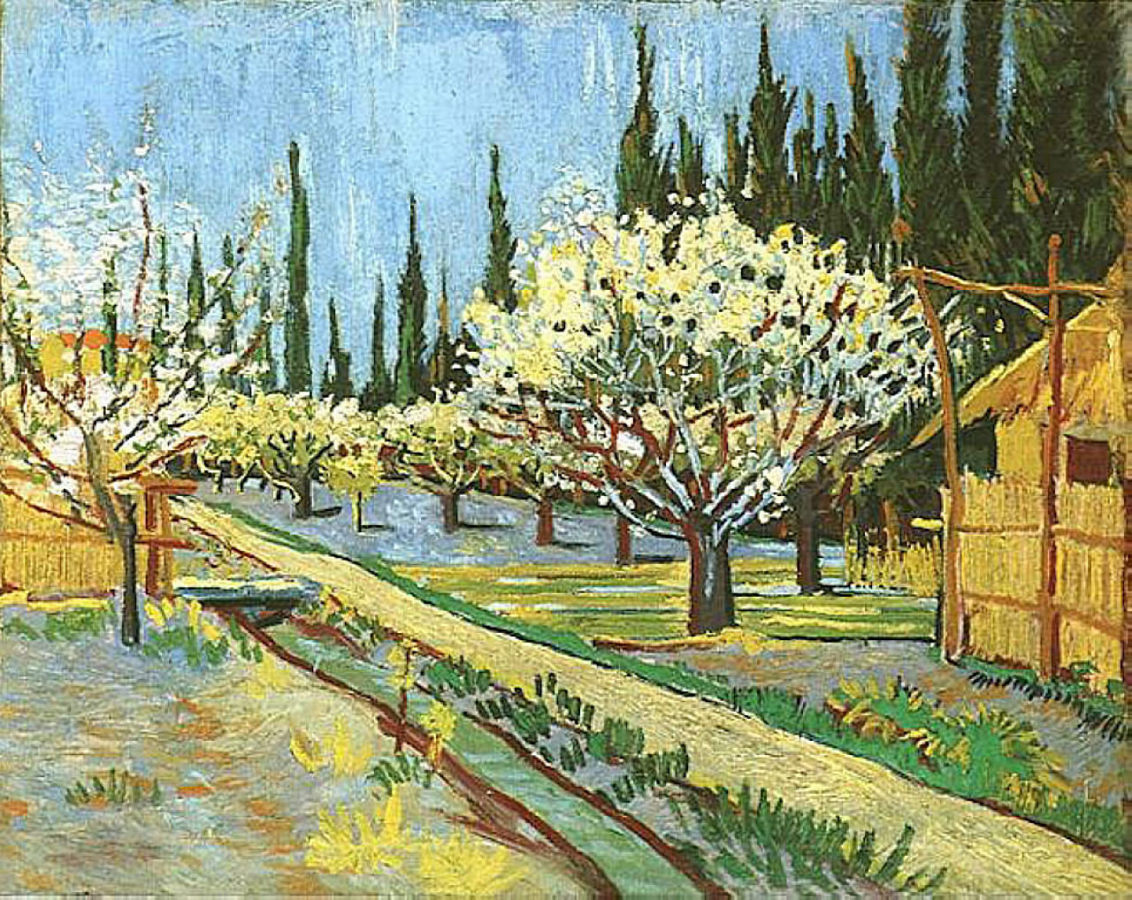 Ван гог деревья в цвету картинки