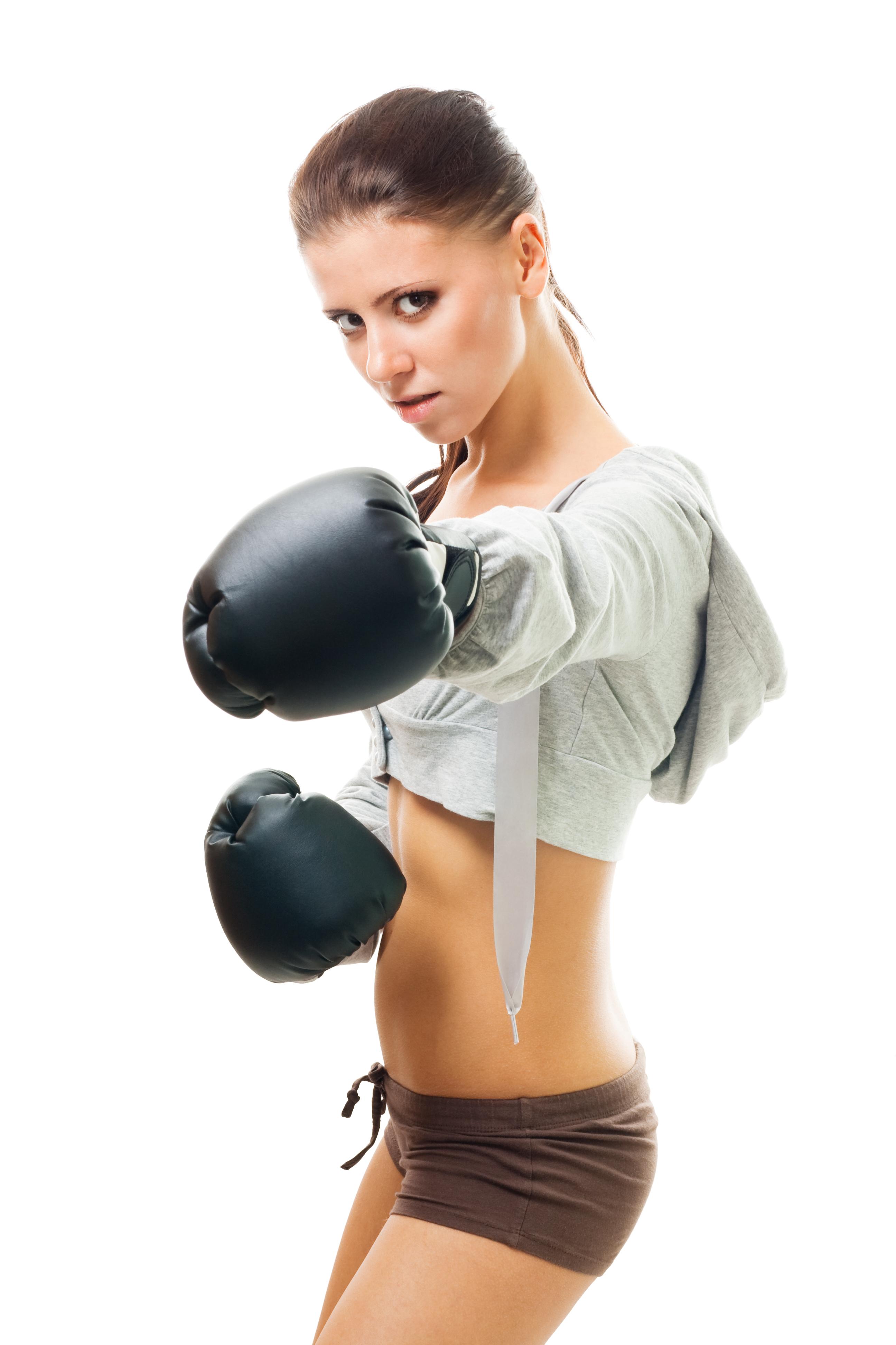 Фотосессия девушки в боксерских перчатках 13 фотография