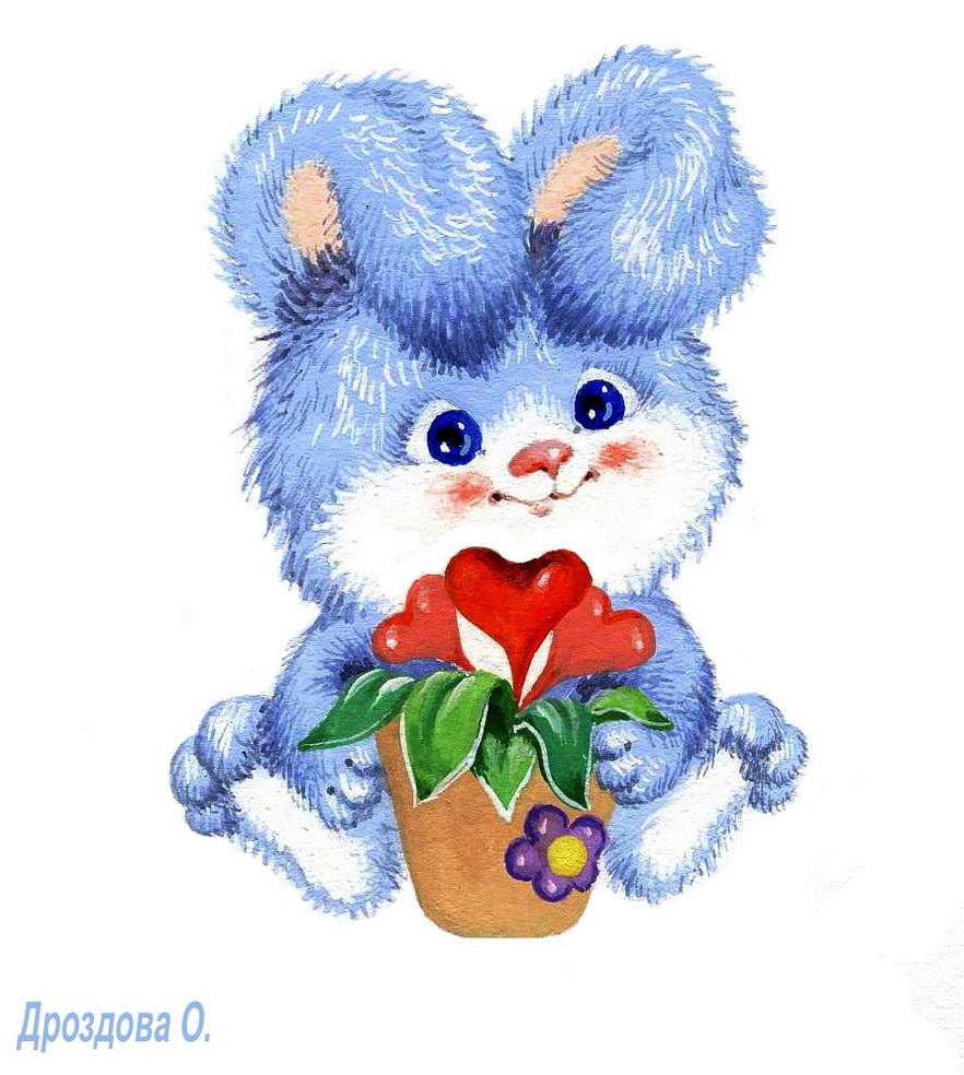 Красивая открытка зайца
