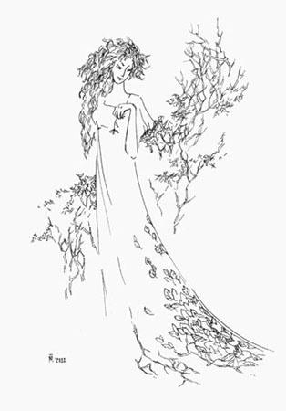 Девушка осень раскраска в полный рост