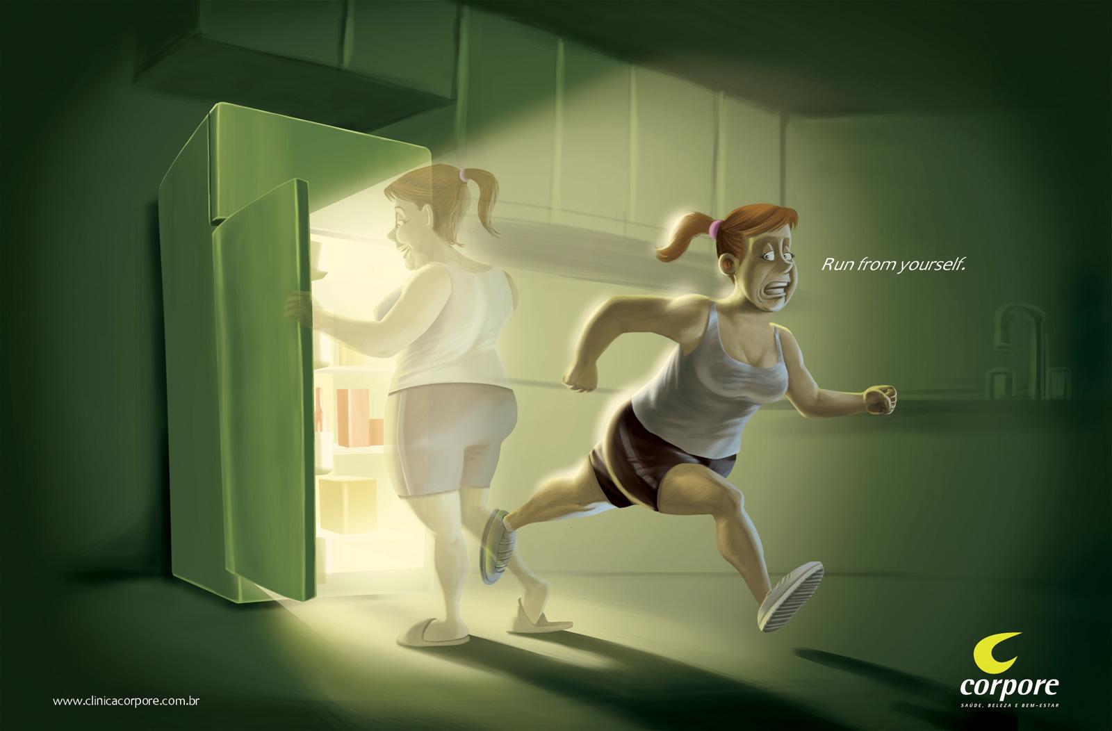 Социальная реклама похудения
