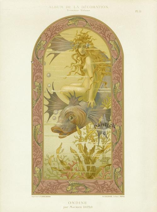 Calavas Art Nouveau Folio Album de la Decoration c1900 (40 работ)