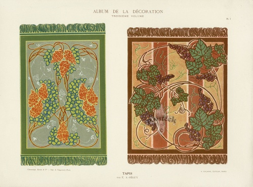 Calavas Art Nouveau Folio Album de la Decoration c1900 (40 работ)
