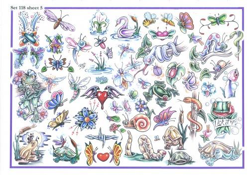 Tattoo Flash - Sheets + Lines set 14 (284 фото) (2 часть)
