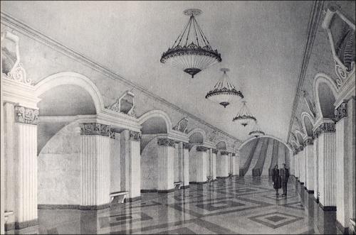 Эскизы Киевского Метрополитена (40 работ)