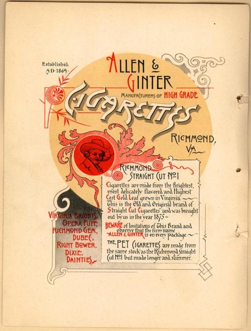 История рекламы. Часть 10. Allen & Ginter (19 фото)