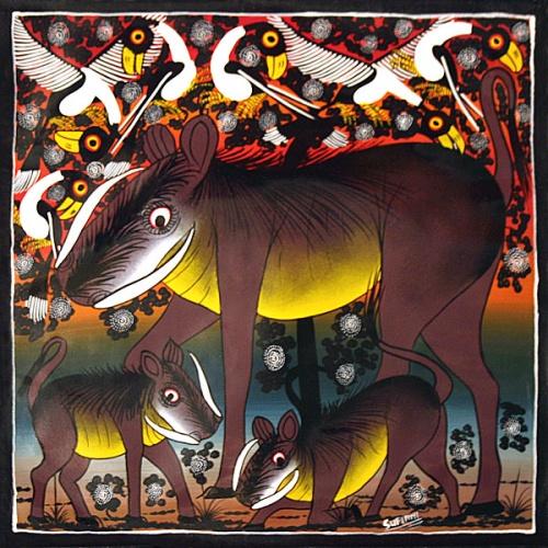 Tingatinga - жанр африканской живописи (69 работ)
