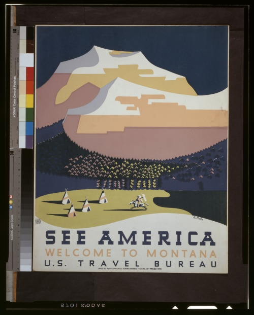 Posters from the WPA (USA 1936-1943) (100 работ) (5 часть)