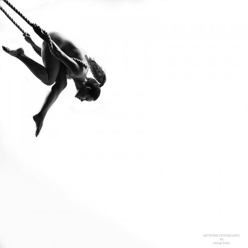 Черно-белые фотографии обнаженных девушек - Ню. George Portz (72 фото) (эротика)