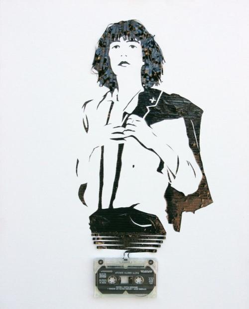 Erica Iris Simmons - Портреты из кассетной пленки (27 работ)