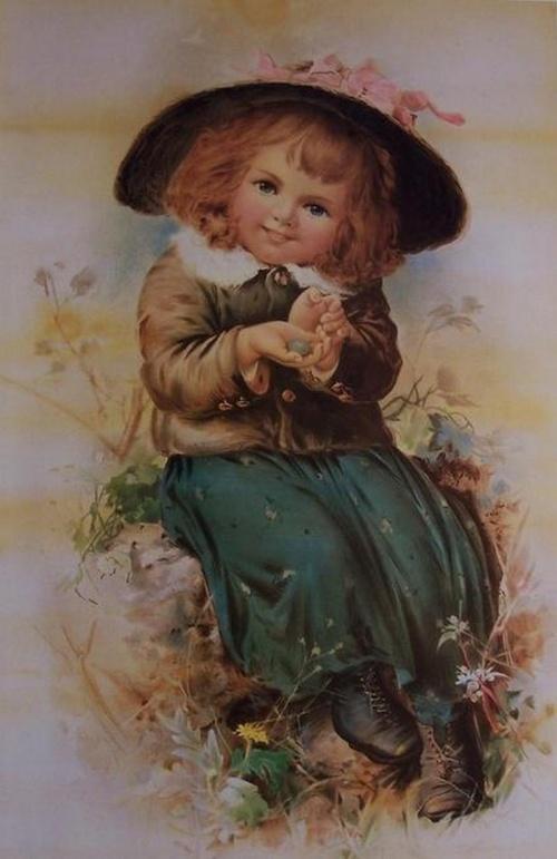 Ретро открытки с детками (46 открыток)