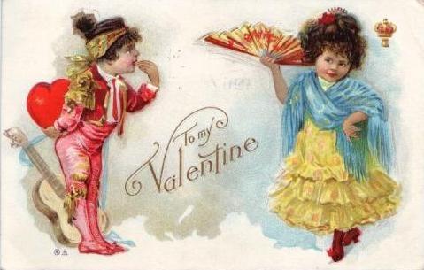 Винтажные валентинки (96 работ)