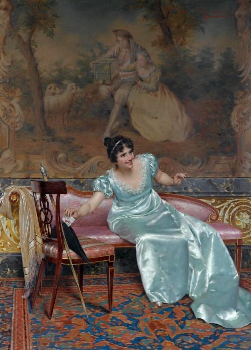 Художник Vittorio Reggianini (1858-1938) (Дополнение) (74 работ)