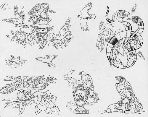 Tattoo Flash - Sheets + Lines set 12 (311 работ) (2 часть)