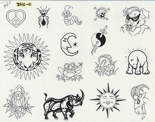 Tattoo Flash - Sheets + Lines set 12 (311 работ) (2 часть)