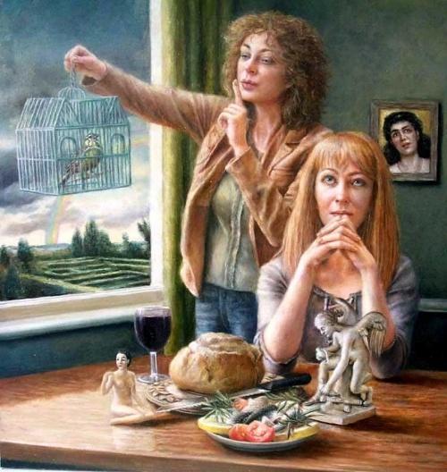 Коллекция работ английской художницы Sally Moore (36 работ)