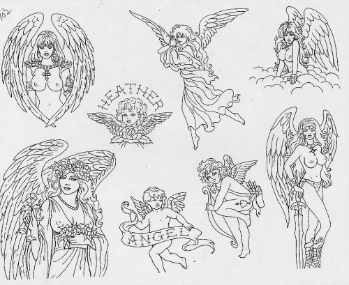 Tattoo Flash - Sheets + Lines set 12 (290 работ) (1 часть)