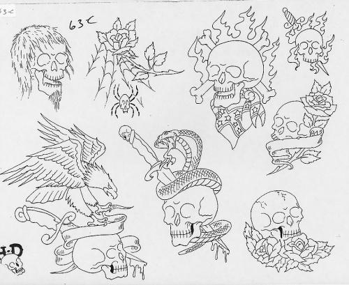 Tattoo Flash - Sheets + Lines set 12 (290 работ) (1 часть)