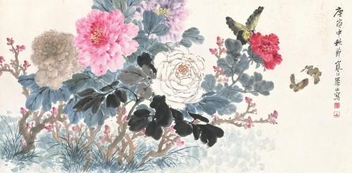 Китайский художник Jiang Hanting (1903-1963) (55 работ)