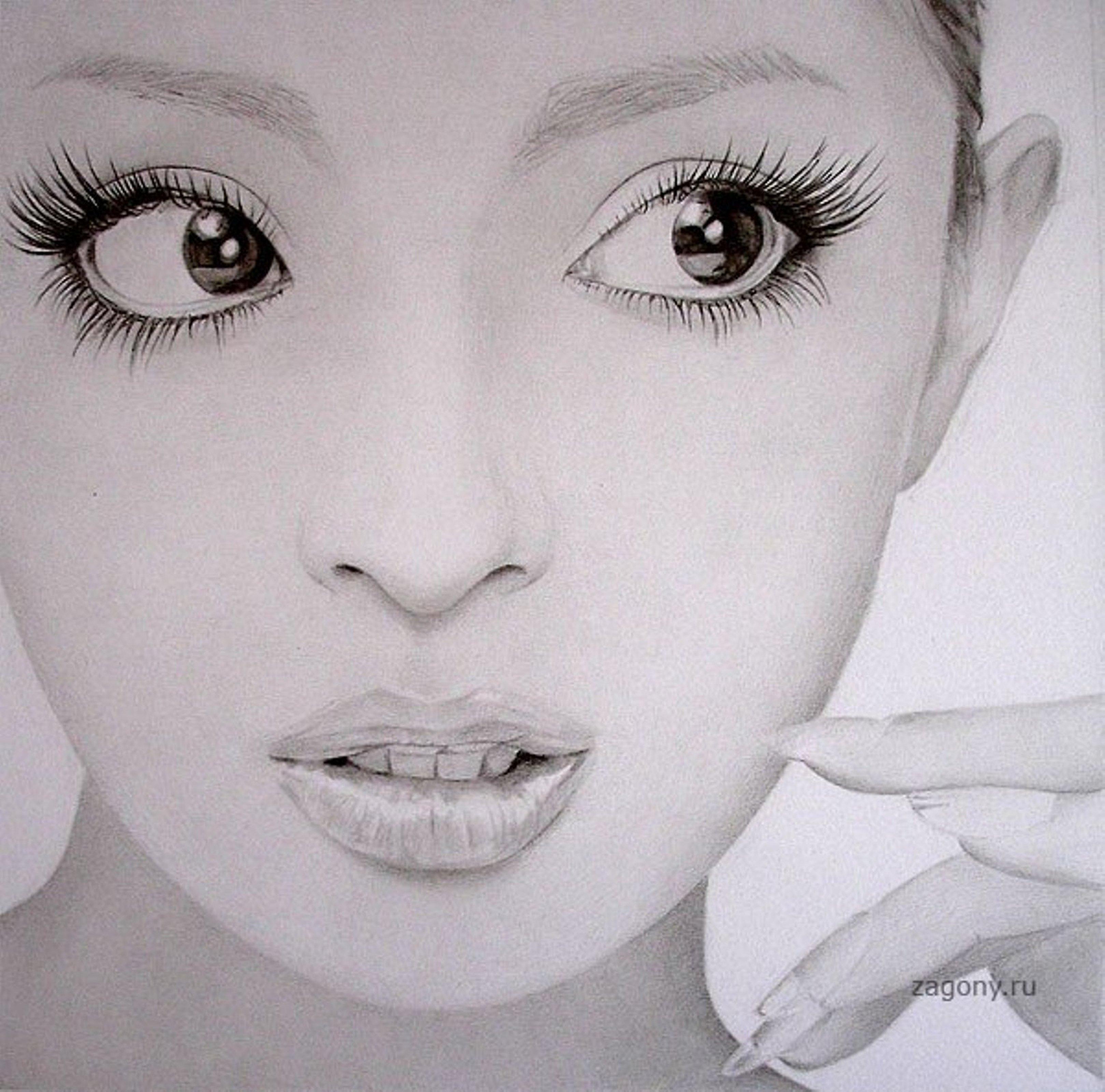Рисунки карандашем - Девушки востока (28 фото). редактировано4 ноября