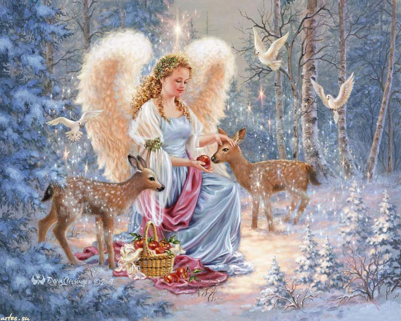 Поздравления ангелов с новым годом