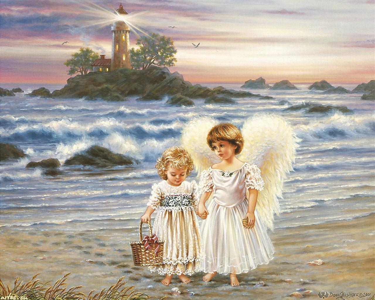 Ангелы хранители обои на рабочий стол