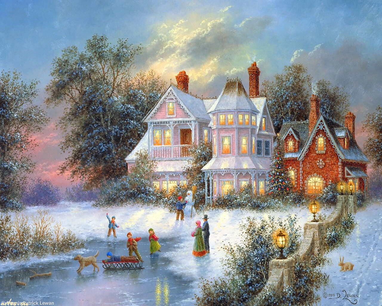 Картинки рисованные с новым годом и рождеством
