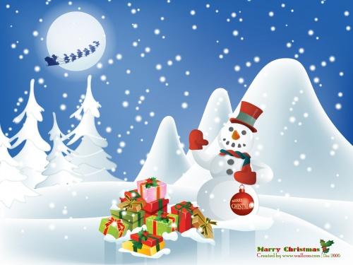 Snowman illustration  Иллюстрации со снеговиком (27 работ)