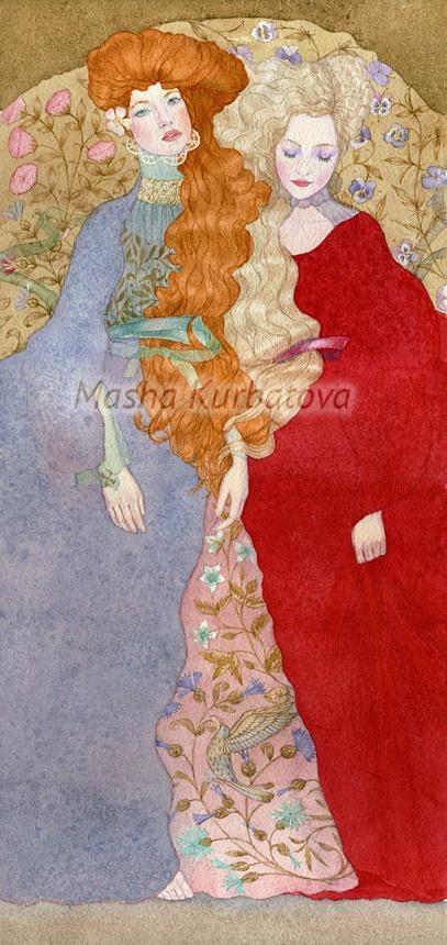 Художница Мария Курбатова (Mariya Kurbatova) (48 работ)
